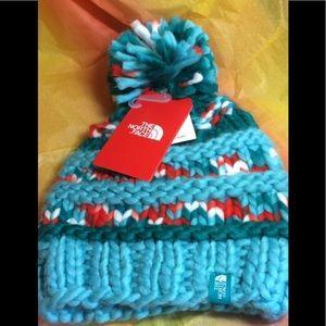 The North Face Nanny knit beanie NWT hand knit o/s